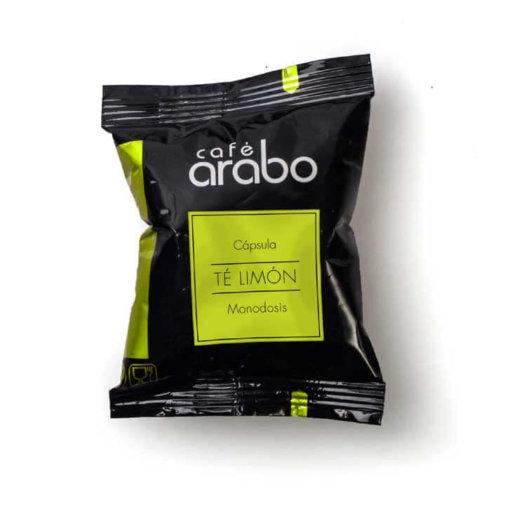 ARABO TE AL LIMON, Capsusas con un aroma a limon suave pero intenso hacen inconfundibles a las capsulas de te al limon de Arabo.